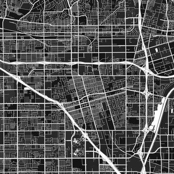 Anaheim, UnitedStates dark vector art map
