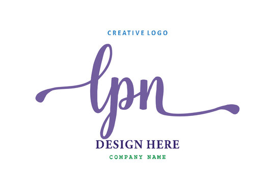 LPN lettering logo is simple, easy to understand and authoritative