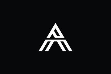 Obraz AP logo letter design on luxury background. PA logo monogram initials letter concept. AP icon logo design. PA elegant and Professional letter icon design on black background. AP PA - fototapety do salonu