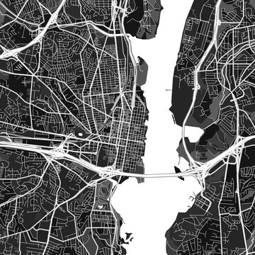 Alexandria, UnitedStates dark vector art map