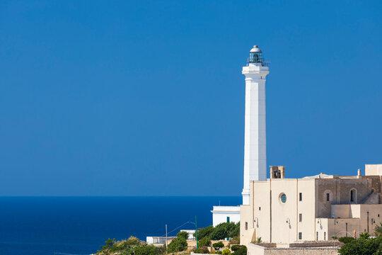 Santa Maria di Leuca lighthouse, Castrignano del Capo, Apulia region, Italy