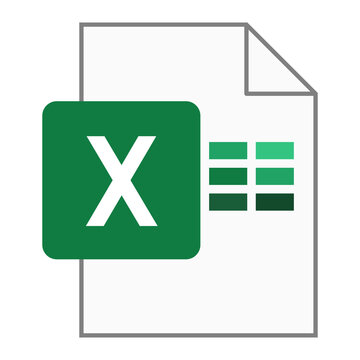 Modern flat design of logo XLS file icon