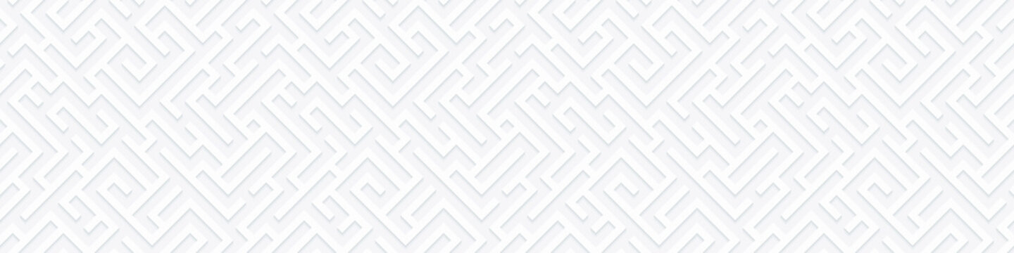 Vector geometric seamless illustration with maze. Infinity background with labyrinth. Banner for your design.