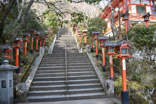 Kifune Shrine in Kyoto in Japan