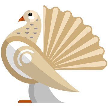 Dove poultry bird icon, flat vector isolated illustration. Farm bird. Domestic fowls.