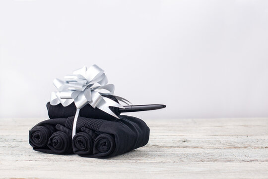 Handmade tanks of socks as gift to men on February 23