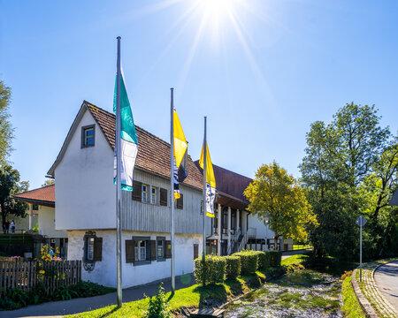 Park, Isny im Allgäu, Baden-Württemberg, Deutschland