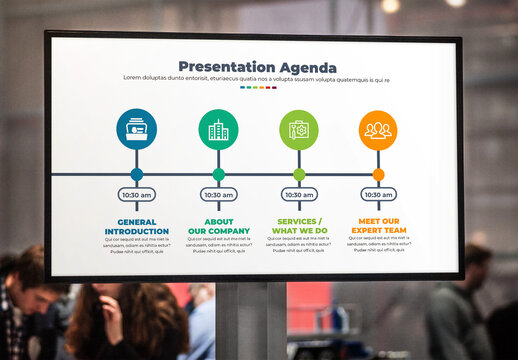 Presentation Agenda Infographic with Growth Cycle