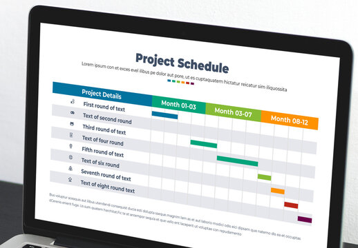 Project Schedule with Monthly Table