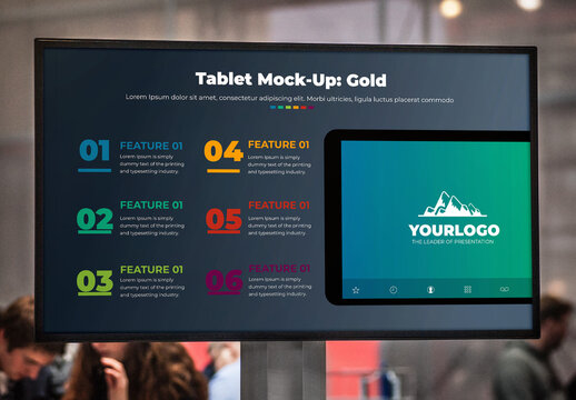 Tablet Features List Infographic