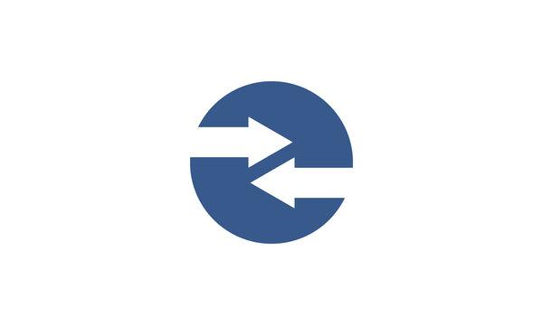 back and forth arrow logo symbol icon vector graphic design