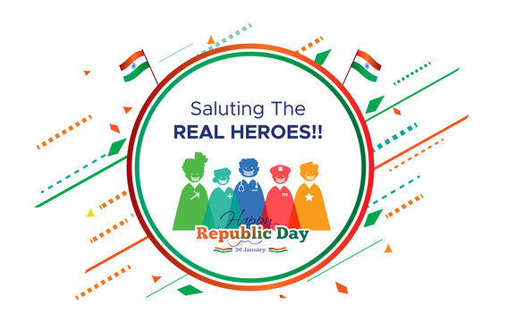 26 January Republic Day of India celebration and thanks to the real heroes doctor, farmer, scientist and Indian army