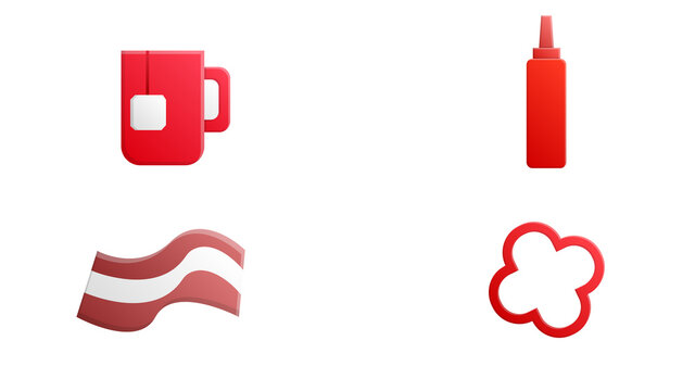 hot icons for web and mobile. Set of hot included icons line Mercury, Tea, Firefighter, Bikini, Ketchup, Sausage, Tea bag, Volcano, Coffee, Pepper on black background