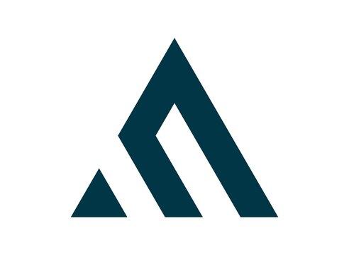 monogram initial letter AM/MA logo