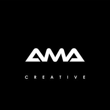 AMA Letter Initial Logo Design Template Vector Illustration