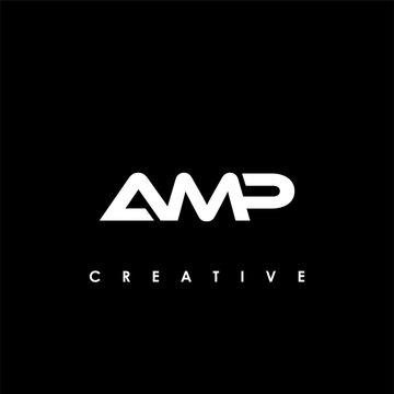 AMP Letter Initial Logo Design Template Vector Illustration