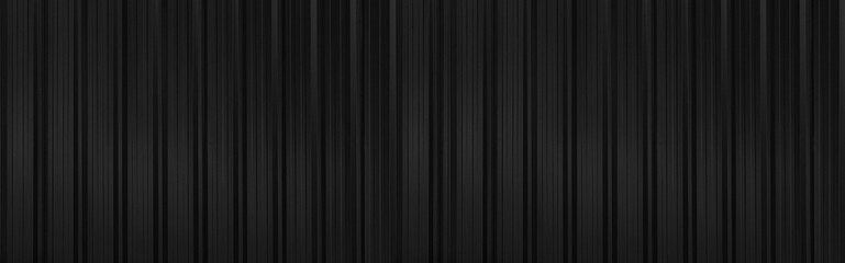 Panorama of Black silver Corrugated metal background and texture surface or galvanize steel