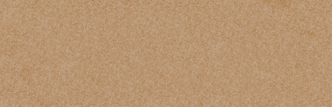 Background and texture of yellow cardboard paper. Panorama.