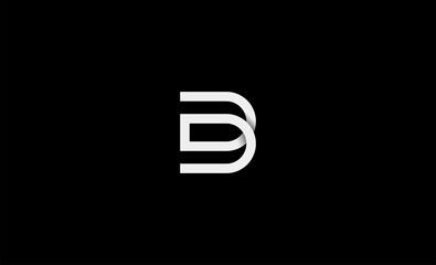 Obraz Initial DD DB Logo Design icon Illustration - fototapety do salonu
