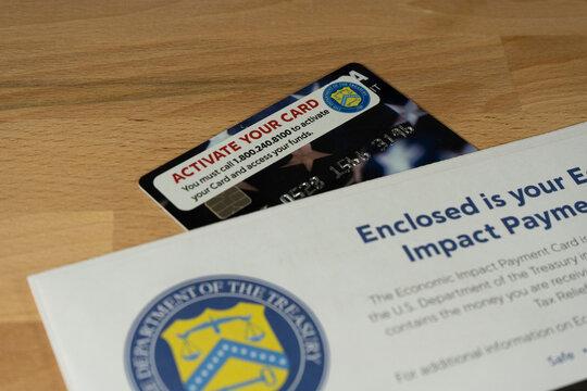 US economic impact payment debit card