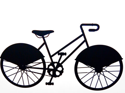 silhouette of a bicycle - illustration