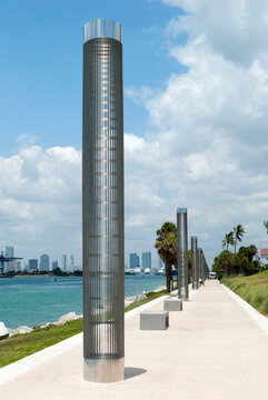 Miami South Beach Waterfront Park Walkway