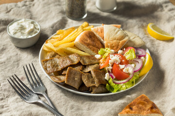 Homemade Greek Gyro Plate
