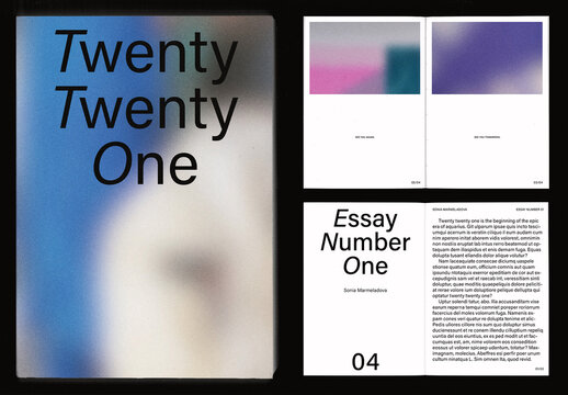 Colorful Literature and Photo Book Layout
