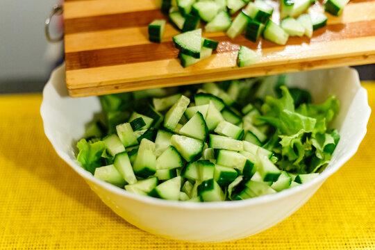 Cucumber and lettuce salad