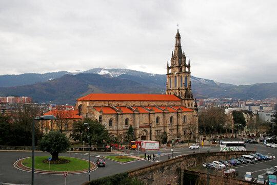 Church in a neighborhood of Bilbao