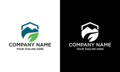 Nature landscape logo templates for green ecology environment or travel company.