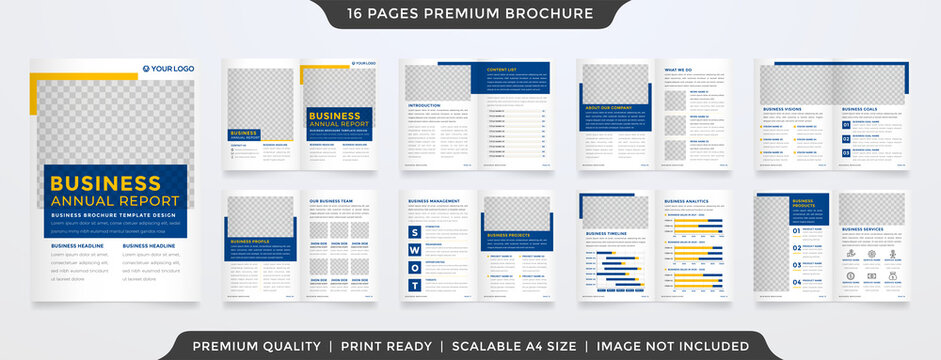 a4 brochure template design with minimalist style and modern concept layout use for business proposal and annual report