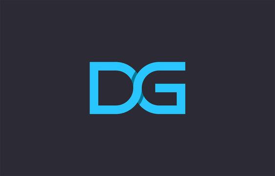 3d joined alphabet letter DG logo design