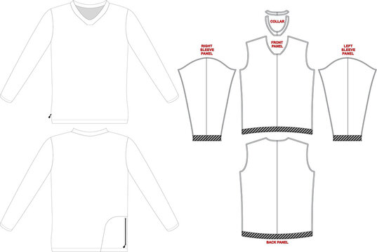 Flow Long Sleeve Trail Jersey Mock ups And Artworks Patterns Vectors