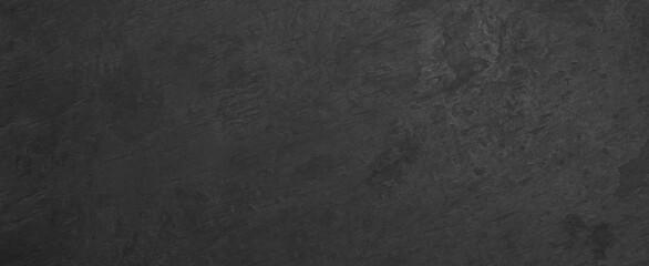 Obraz black anthracite stone concrete texture wall wallpaper tiles background panorama banner - fototapety do salonu
