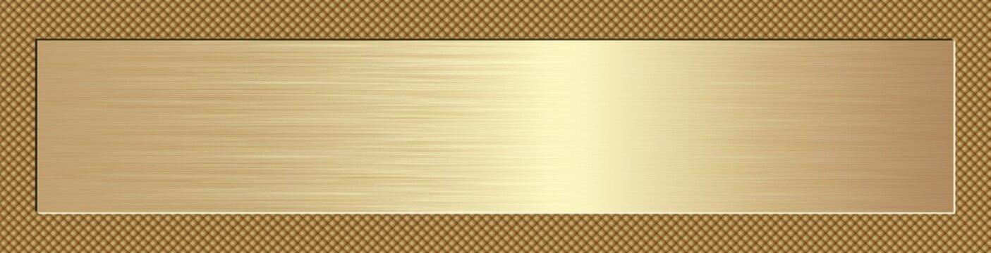 golden long banner