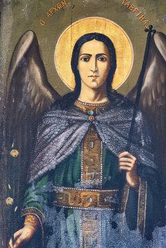 Archangel Gabriel,, icon, Byzantine hagiography