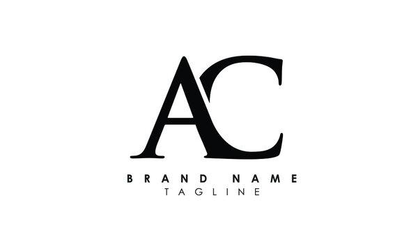 Alphabet letters Initials Monogram logo AC, CA, A and C