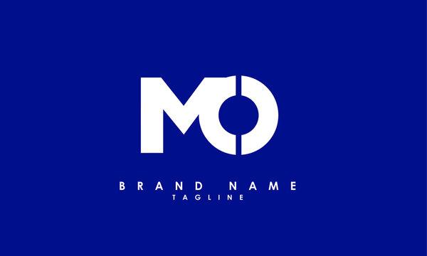 Alphabet letters Initials Monogram logo MO, OM, M and O