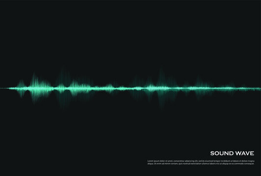audio spectrum background with glowing waves Or heartbeat
