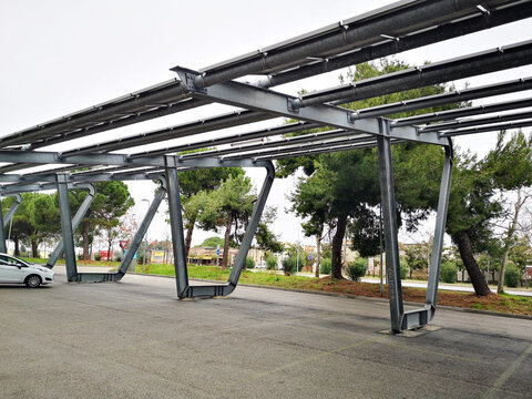 Carport with solar panels