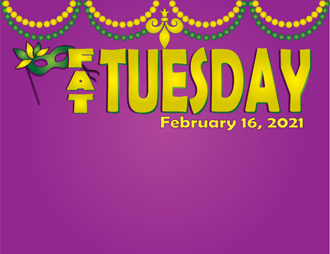 Fat Tuesday Horizontal Background for poster
