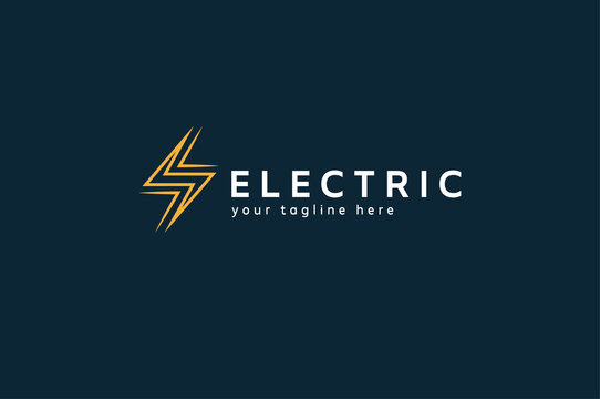 Electric Logo, Abstract letter S from  lightning bolt icon, tunder bolt design logo template, vector illustration