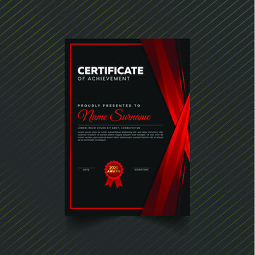 Professional unique certificate and diploma template