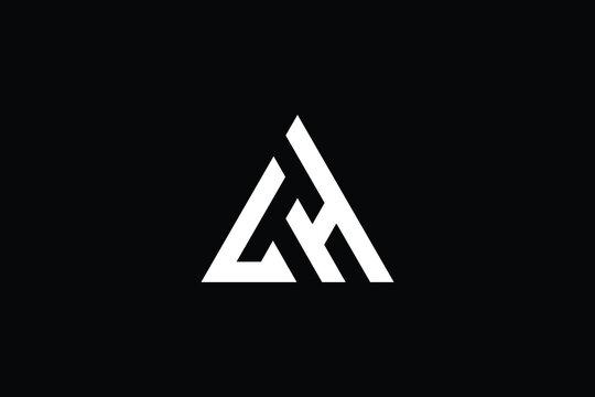 HL logo letter design on luxury background. LH logo monogram initials letter concept. HL icon logo design. LH elegant and Professional letter icon design on black background. L H HL LH