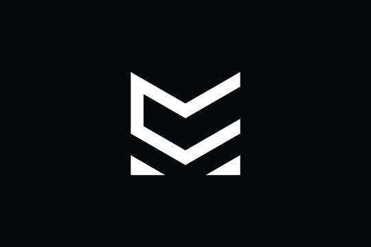 MC logo letter design on luxury background. CM logo monogram initials letter concept. MC icon logo design. CM elegant and Professional letter icon design on black background. M C CM MC