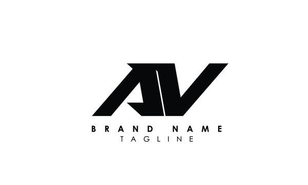 Alphabet letters Initials Monogram logo AV, VA, V and V