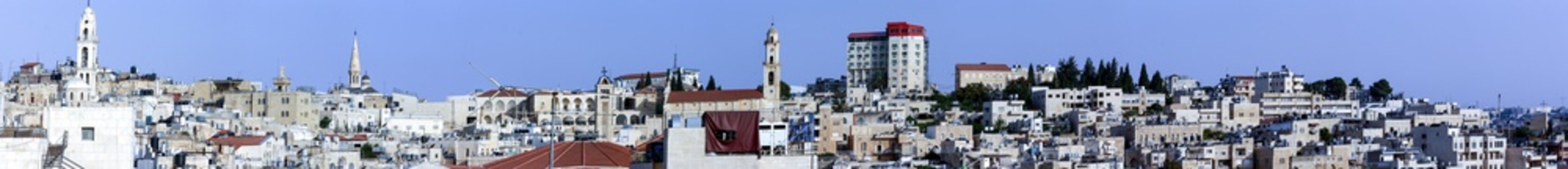 General scape of the city of Bethlehem, at the West Bank, Palestine