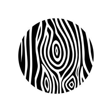 Circle woodcut natural pattern hand drawn concept