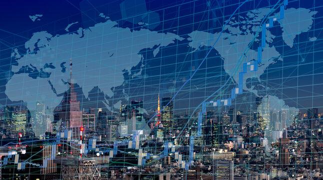グローバル経済イメージ 都市景観 東京